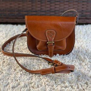Patricia Nash Argos Saddle Bag Leather Crossbody